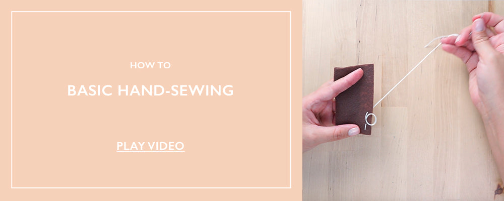 How To: Basic Hand Stitching