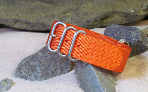 NEW - The Inmate Diver Length Z5™ Ballistic Nylon Strap w/ Brushed Hardware (Stitched) 24mm