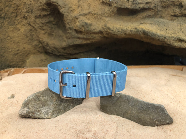NEW - The Azure Ballistic Nylon Strap w/ Polished Hardware 20mm