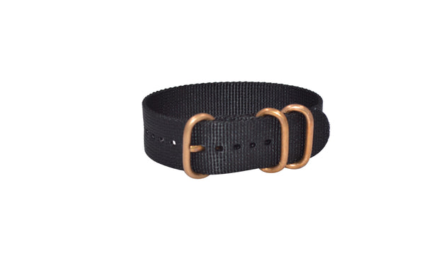 The Black-Ops Z3™ Ballistic Nylon Strap w/ BRONZE Hardware (Stitched) 20mm