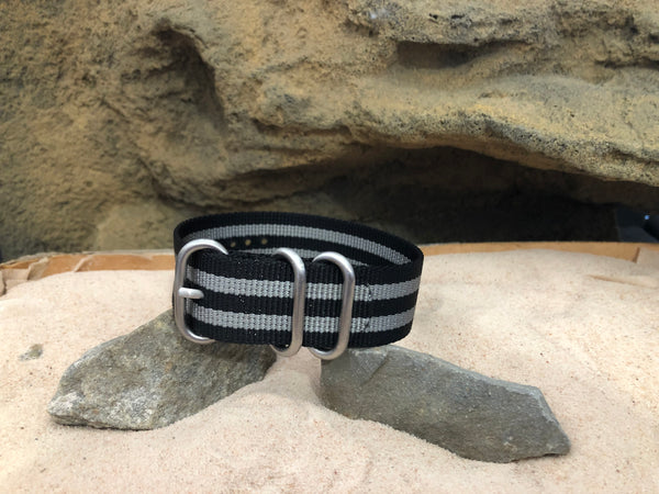 NEW - Classic Bond Z3™ Ballistic Nylon Strap w/ Brushed Hardware (Stitched) 20mm