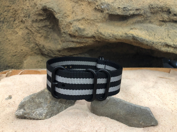 NEW - Classic Bond XII Z5™ Ballistic Nylon Strap w/ PVD Hardware 22mm