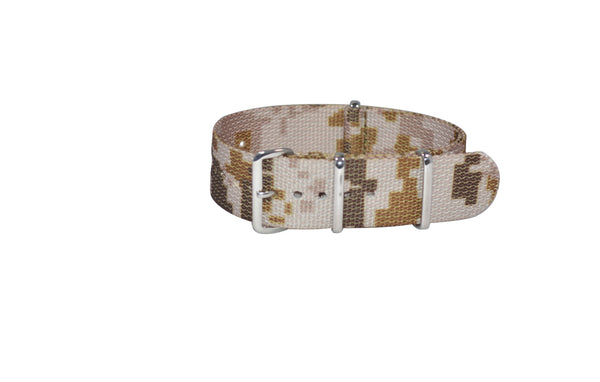 The Desert Ambush Ballistic Nylon Strap w/ Polished Hardware (Stitched) 18mm