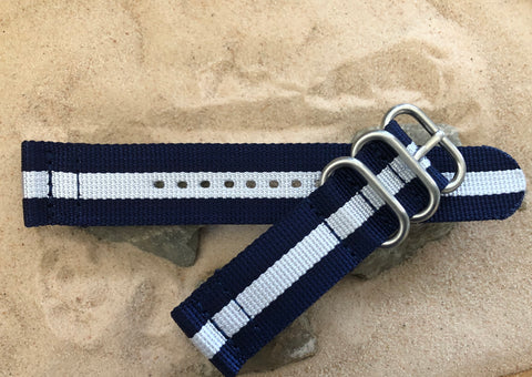 NEW - The Gentleman Z3™ Two-Piece Ballistic Nylon Strap w/ Brushed Hardware (Stitched) 22mm