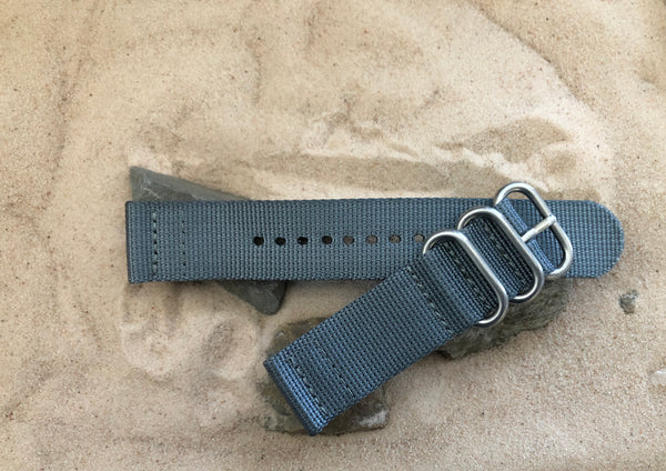 NEW - The Gray Matter Z3™ Two-Piece Ballistic Nylon Strap w/ Brushed Hardware (Stitched) 22mm