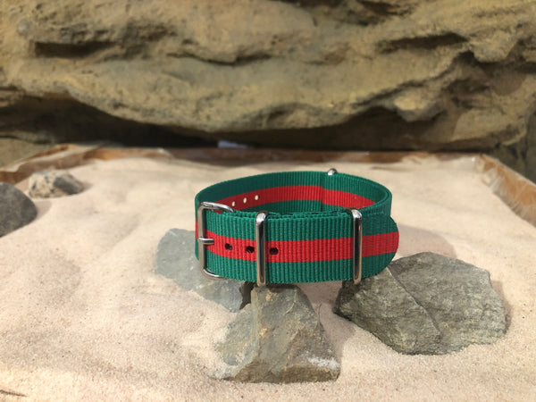 NEW - The Analog II Ballistic Nylon Strap w/ Polished Hardware 20mm