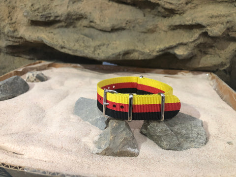 NEW - The Sunset Ballistic Nylon Strap w/ Polished Hardware 20mm