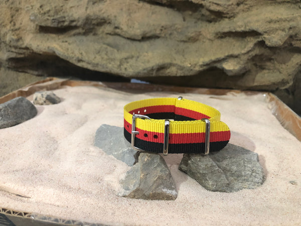 NEW - The Sunset Ballistic Nylon Strap w/ Polished Hardware 18mm