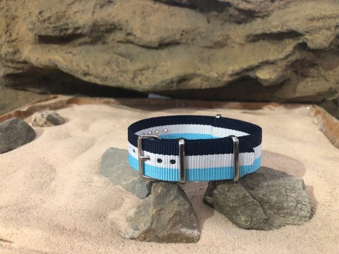NEW - The Jetty Ballistic Nylon Strap w/ Polished Hardware 20mm