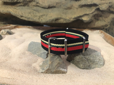 NEW - The Major Ballistic Nylon Strap w/ Polished Hardware 20mm