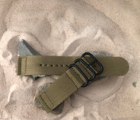 NEW - The Cadet Z3™ Two-Piece Ballistic Nylon Strap w/ PVD Hardware 24mm