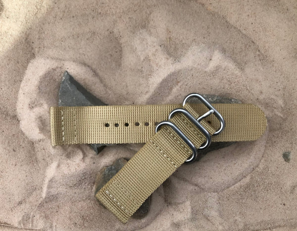 NEW - The Desert Dweller Z3™ Two-Piece Ballistic Nylon Strap w/ Brushed Hardware 24mm