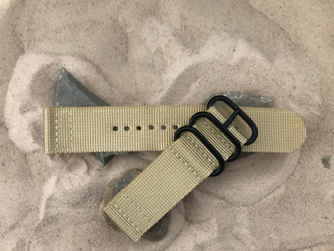 NEW - The Desert Dweller Z3™ Two-Piece Ballistic Nylon Strap w/ PVD Hardware 24mm