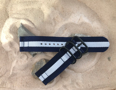 NEW - The Gentleman Z3™ Two-Piece Ballistic Nylon Strap w/ PVD Hardware 24mm