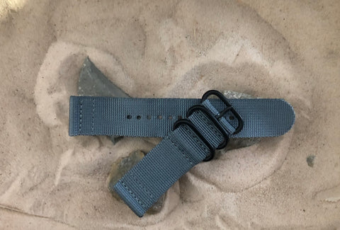 NEW - The Gray Matter Z3™ Two-Piece Ballistic Nylon Strap w/ PVD Hardware (Stitched) 24mm