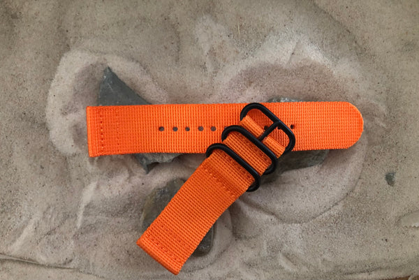 NEW - The Inmate Z3™ Two-Piece Ballistic Nylon Strap w/ PVD Hardware 24mm