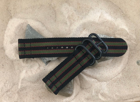 NEW - The MI6 Bond Z3™ Two-Piece Ballistic Nylon Strap w/ PVD Hardware 20mm