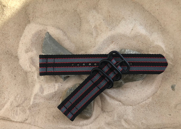 NEW - The MI6 Bond II Z3™ Two-Piece Ballistic Nylon Strap w/ PVD Hardware 20mm