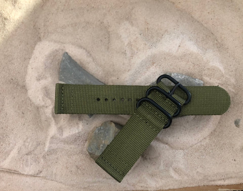 NEW - The Brigade Z3™ Two-Piece Ballistic Nylon Strap w/ PVD Hardware 24mm