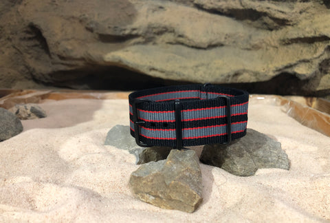 NEW - The MI6 Bond II Ballistic Nylon Strap w/ PVD Hardware 24mm