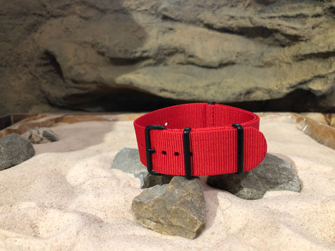 NEW - The O-Negative Ballistic Nylon Strap w/ PVD Hardware 24mm