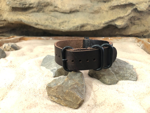 NEW - The Colt Z5™ Leather Ballistic Nylon Strap w/ PVD Hardware (Stitched) 20mm