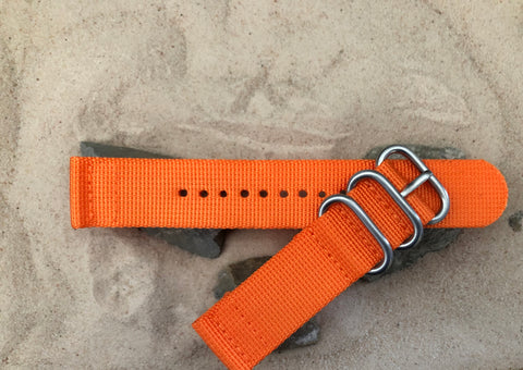 NEW - The Inmate Z3™ Two-Piece Ballistic Nylon Strap w/ Brushed Hardware (Stitched) 22mm
