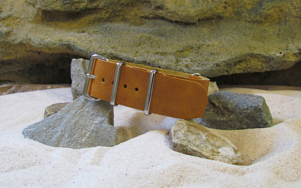 The Lasso Leather Strap w/ Polished Hardware (Stitched) 18mm