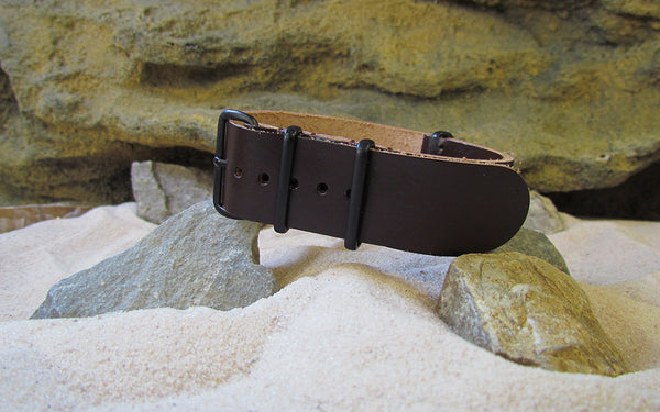 The Colt Leather NATO Strap w/ PVD Hardware (Stitched) 18mm