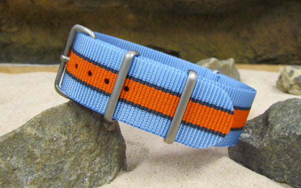 The Le Mans Nato Strap w/ Matte Hardware (Stitched) 18mm