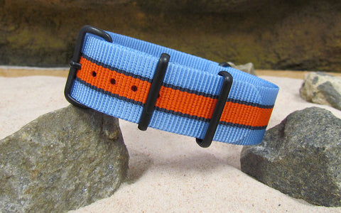 The Le Mans Ballistic Nylon Strap w/ PVD Hardware (Stitched) 18mm