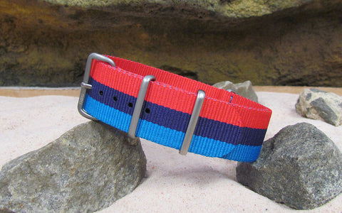 The M-Technik Ballistic Nylon Strap w/ Matte Hardware (Stitched) 18mm
