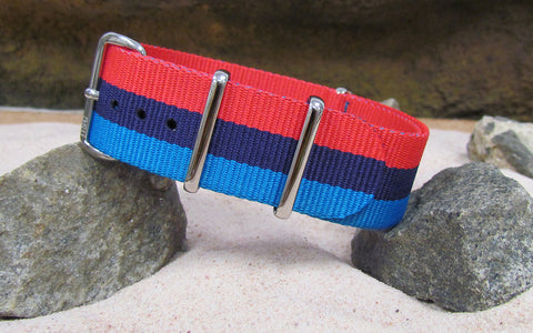The M-Technik Ballistic Nylon Strap w/ Polished Hardware (Stitched) 18mm