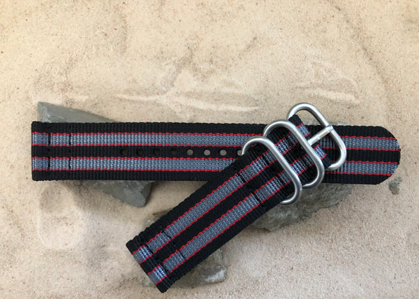 The MI6 Bond II Z3™ Two-Piece Ballistic Nylon Strap w/ Brushed Hardware 22mm