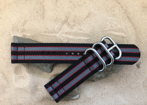 NEW - The MI6 Bond II Z3™ Two-Piece Ballistic Nylon Strap w/ Brushed Hardware (Stitched) 22mm