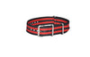 The NEW Cobra XII Ballistic Nylon Strap w/ Brushed Hardware (Stitched) 26mm