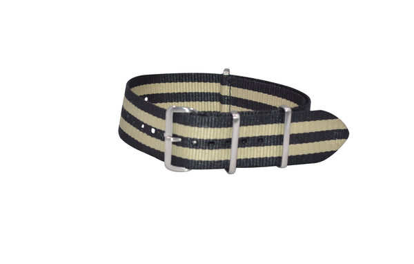 The NEW Desert-Ops XII Ballistic Nylon Strap w/ Brushed Hardware (Stitched) 26mm