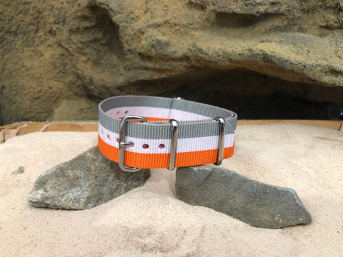 NEW - The Relay Ballistic Nylon Strap w/ Polished Hardware 22mm