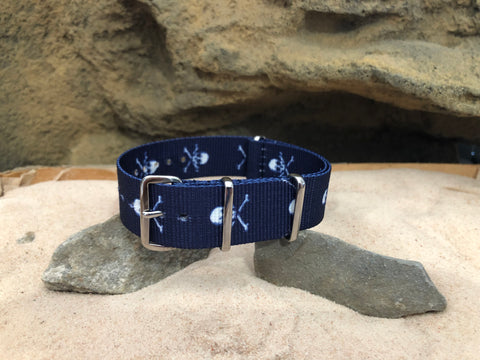 NEW - The Sea Rover Ballistic Nylon Strap w/ Polished Hardware 20mm