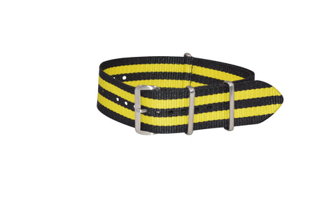 The Sunray XII Ballistic Nylon Strap w/ Brushed Hardware (Stitched) 18mm