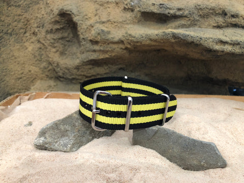 NEW - The Sunray Ballistic Nylon Strap w/ Polished Hardware (Stitched) 22mm