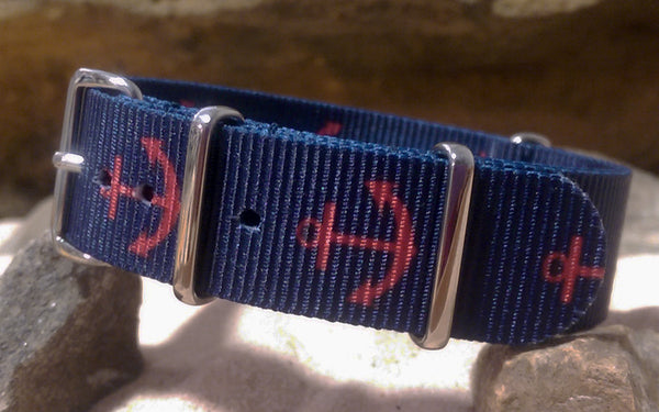 The Anchor NATO Strap w/ Polished Hardware (Stitched) 18mm