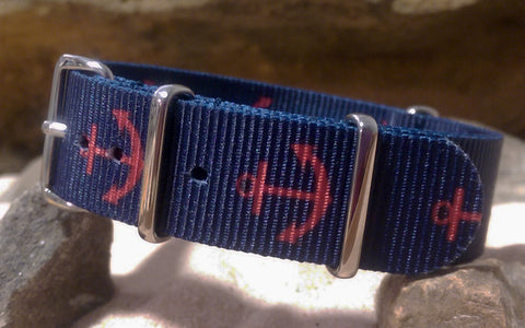 The Anchor Ballistic Nylon Strap w/ Polished Hardware (Stitched) 18mm