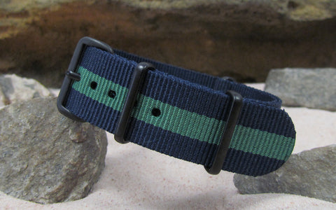 The Aurora Nato Strap w/ PVD Hardware (Stitched) 18mm