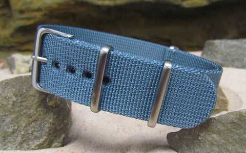 The Baltic XII NATO Strap w/ Brushed Hardware (Stitched) 26mm