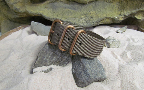 The Berenger Z3™ Ballistic Nylon Strap w/ BRONZE Hardware (Stitched) 20mm