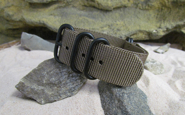 The Berenger Z5™ Nato Strap w/ PVD Hardware (Stitched) 26mm