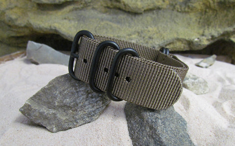 The Berenger Z5™ Nato Strap w/ PVD Hardware (Stitched) 20mm