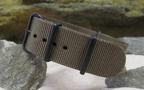The Berenger Nato Strap w/ PVD Hardware (Stitched) 24mm