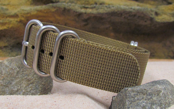 The Cadet XII Z5™ Ballistic Nylon Strap w/ Brushed Hardware (Stitched) 22mm